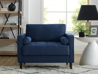 $169.34 Lifestyle Solutions Mid-Century Modern Design Lorelei Large Armchair in Navy Blue Fabric