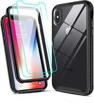 $2.78 LeYi Compatible for iPhone X Case, iPhone Xs Case with Tempered Glass Screen Protector [2…