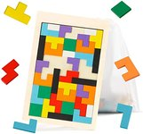 $5.00 Ranslen Wooden Russian Blocks Puzzles for Kids Adults with a Storage Bag, Wood Intelligen…