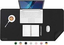 "$6.80 YKiMi Dual Sided Office Desk Pad,31.5 x 15.7"" Waterproof Ultra Thin PU Leather Mouse Pad,…"