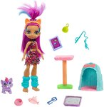 $5.00 Mattel Cave Club Purr-FECT Pet Adventure Playset with Roaralai Doll (8 – 10-inch, Purple …