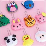 $4.50 DIY Sewing Kit for Kids, Felt Animal DIY Crafts for Girls and Boys Educational Sewing for…