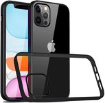 $5.09 KOMO Compatible with iPhone 12 Pro/iPhone 12 Case Cover, Clear PC Back with TPU Edge Prot…