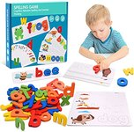 $7.50 Tesoky Educational Toys for 2-8 Year Old Boys Girls,Kids Learning Toys Age 3-8 Spelling G…
