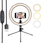 "$6.00 Ring Light 10"" Selfie Light Ring with Tripod Stand & Phone Holder & Remote Control 3000-5…"