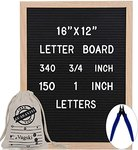 $17.20 Letter Board 12 x 16 Inches – Vagski Black Felt Letter Board with 490 Letters Numbers & S…