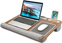 $34.12 HUANUO Lap Desk – Fits up to 17 inches Laptop Desk, Built in Mouse Pad & Wrist Pad for No…
