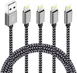 $6.80 Phone Cable 4Pack 3FT 6FT 6FT 10FT Nylon Braided Cord Charger Compatible with PhoneX/Phon…
