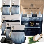 $9.97 Bamboo Charcoal Air Purifying Bags – Dual Action Formula , 5 Bags – 2x100g 2x200g 1x400g