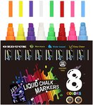 $5.60 GZDUCK Chalk Markers,Liquid Chalk Markers Kit Multiple Colors Erasable Dry Erase Marker P…