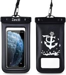 $5.00 Universal Waterproof Case, Zecti Waterproof Phone Pouch for iPhone 11 Pro Max XS Max XR X…