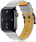 $7.00 OULUCCI Compatible Apple Watch Band 42mm 44mm, Genuine Leather Replacement for iWatch Str…