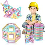 $11.89 RegeMoudal 40PCS Magnetic Blocks, Magnetic Tiles Building Blocks Set for Kids Educational…