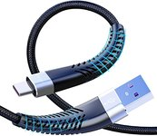 $2.96 USB Type C Cable 6ft, JEENEK 2Pack 6 Foot 3A Fast Charger Cable Compatible with Samsung G…