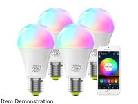 $19.99 MagicLight Smart Light Bulb (60w Equivalent), A19 7W Multicolor 2700k-6500k Dimmable WiFi…