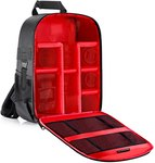 $19.99 Neewer Camera Case Backpack Waterproof Shockproof 12.2×5.5×14.6 inches Bag (Red Interior)…