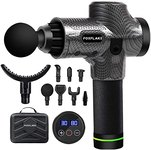 $29.70 FOXFLAKE Massage Gun deep Tissue Handheld Percussion for Athletes Portable Body Muscle Ma…