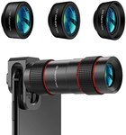 $3.00 Phone Camera Lens – [Upgraded Version] AIKEGLOBAL iPhone Lens 4 in 1, 18X Zoom Telephoto …
