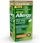 $11.99 GoodSense All Day Allergy, Cetirizine Hydrochloride Tablets, 10 mg, Antihistamine, 365 Co…
