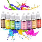 $8.00 Euahood Food Coloring Liquid- 8 Color Neon Tasteless Food Dye for Cake Decorating,Baking,…