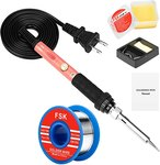 $7.20 Soldering Iron Kit, 60W Soldering Iron with Ceramic Heater, 4-in-1 Adjustable Temperature…