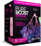 $10.00 Pureboost Immune Clean Energy Drink Mix: Immunity Supplement with Elderberry, 1200 mg Vit…