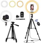 "$14.00 12"" LED Selfie Ring Light with Tripod Stand – Cellphone Holder for Live Stream/TIK Tok/Yo…"