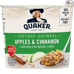 $9.02 Quaker Instant Oatmeal Express Cups, Apples & Cinnamon, 12 Count