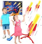 $7.80 kyliandi HW899 Air Powered Jump Rocket Launchers for Kids,Outdoor Play with 6 Foam Rocket…