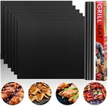 $4.50 Grill Mat Set of 6 Non-Stick BBQ Grill Mats, Heavy Duty, Reusable, and Easy to Clean Easy…
