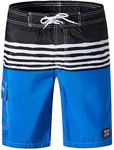 $7.60 Men's Swim Trunks Quick Dry with Mesh Lining Board Shorts with Pockets 9 Inches Inseam Be…