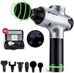 $36.49 Massage Gun Deep Tissue, 20 Speeds Percussion Massage Gun for Athletes Muscle Recovery, C…
