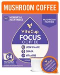 $58.96 VitaCup Focus Coffee Pods with Lions Mane, Chaga Mushrooms, B Vitamins & Vitamin D3 for I…