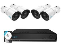 $299.99 Reolink 8CH 5MP PoE Home Security Camera System, 4pcs Wired 5MP Outdoor PoE IP Cameras, 8…