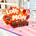 $4.60 Pop Up Mothers Day Card from Daughter, Mothers Day Gifts for Mon – Chram Moi