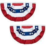 $3.25 American Flag Bunting, USA Pleated Fan Flag ,3X1.5 Ft US 4th Of July Banners For Porch In…