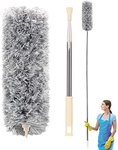 $6.92 Microfiber Duster, Newliton Feather Duster with Extension Pole 30      -100      (Stainle…