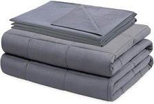 $15.00 Kawaii_Kids Adult Weighted Blanket 15 pounds Queen Size with Cotton Cover (Dark Grey)