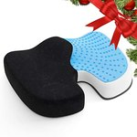 $7.79 AMERIERGO Seat Cushion, Comfortable Gel-Enhanced Seat Pad for Office Chair Car Seat, Memo…