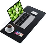$6.79 AMERIERGO Dual-Sided Desk Pad – 31.5 Inch x 15.7 Inch Desk Mat, PU Leather Waterproof Des…