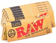 $5.69 Raw Unrefined Classic 1.25 1 1/4 Size Cigarette Rolling Papers, 50 Count (Pack of 6)