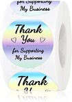 $0 Thank You Stickers Roll 1.5 inch Small Business Stickers Tags for Wedding,Flower Bouquets…