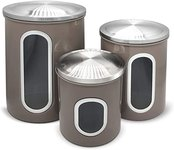 $22.99 Fortune Candy Stainless Steel Canister Sets with Anti-Fingerprint Lid and Visible Window,…