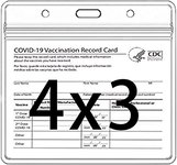 $14.99 CDC Vaccination Card Protector 4 X 3 in Immunization Record Vaccine Horizontal ID Card Na…