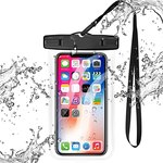 $2.67 Universal Clear Waterproof Case,xiwxi Cellphone Dry Bag,IPX8 Waterproof Phone Pouch Compa…