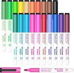 $4.49 Dry Erase Markers, Shuttle Art 20 Colors Magnetic Whiteboard Markers with Erase, Fine Poi…