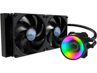$75.00 MasterLiquid ML280 Mirror ARGB Close-Loop AIO CPU Liquid Cooler, Mirror ARGB Pump, 280 Ra…